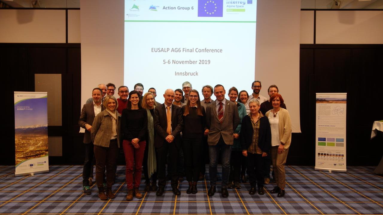 AG6 members at AG6 Final Conference on 5 November 2019 in Innsbruck.