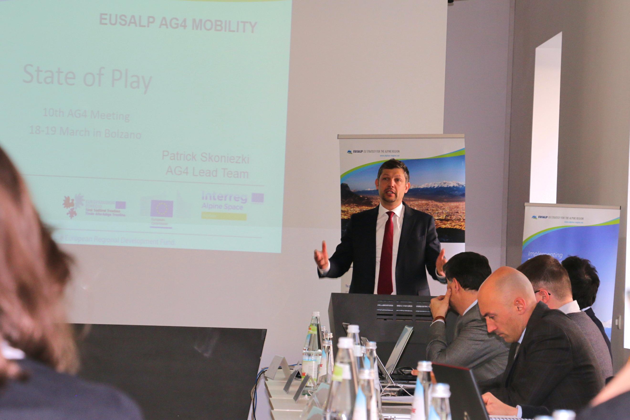 Daniel Alfreider opens 10th AG4 Meeting - 18/19 March 2019 in Bolzano; Credits: Land Südtirol