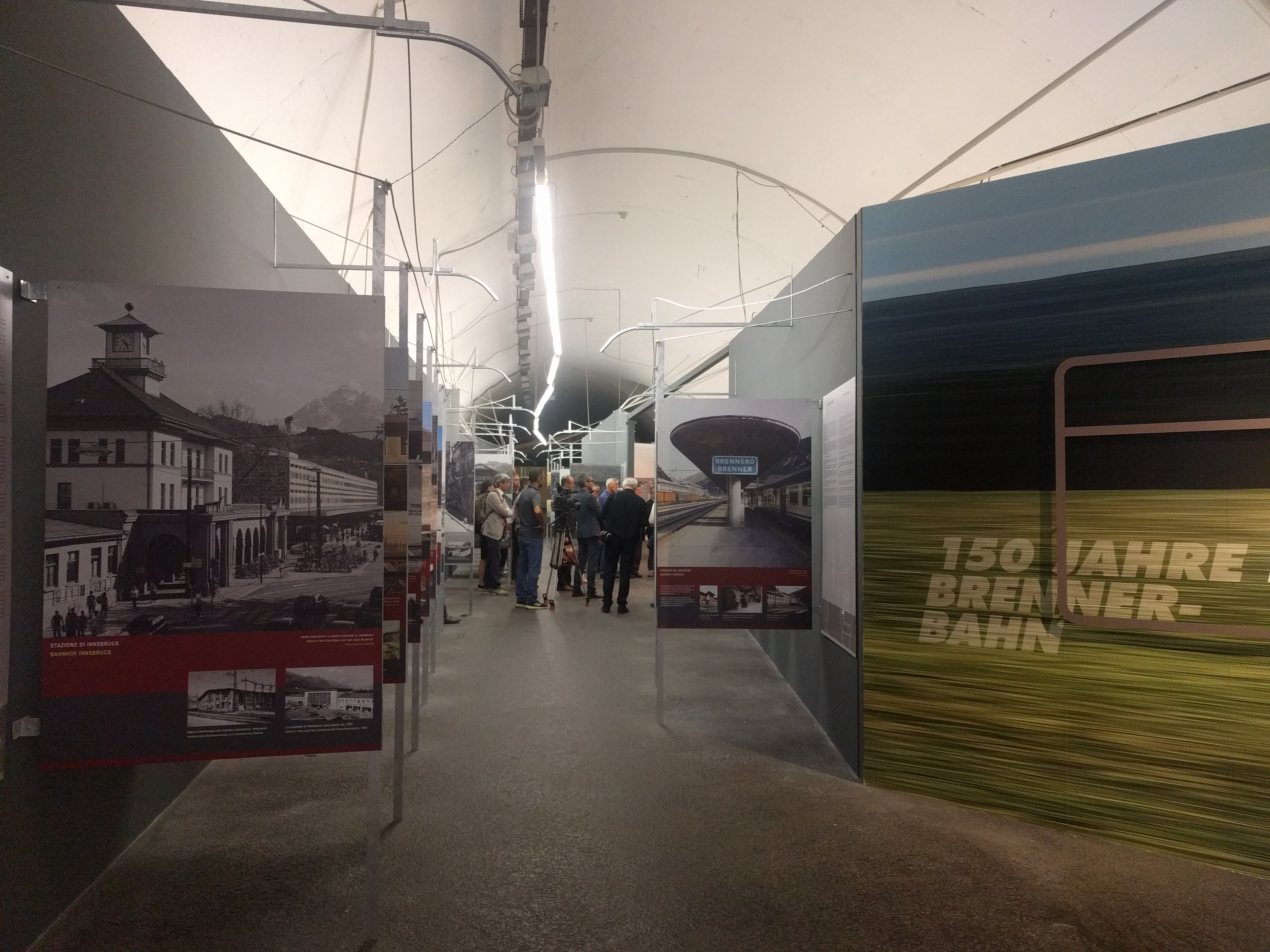"""Visit of the exhibition """"150 years Brenner Railway"""""""