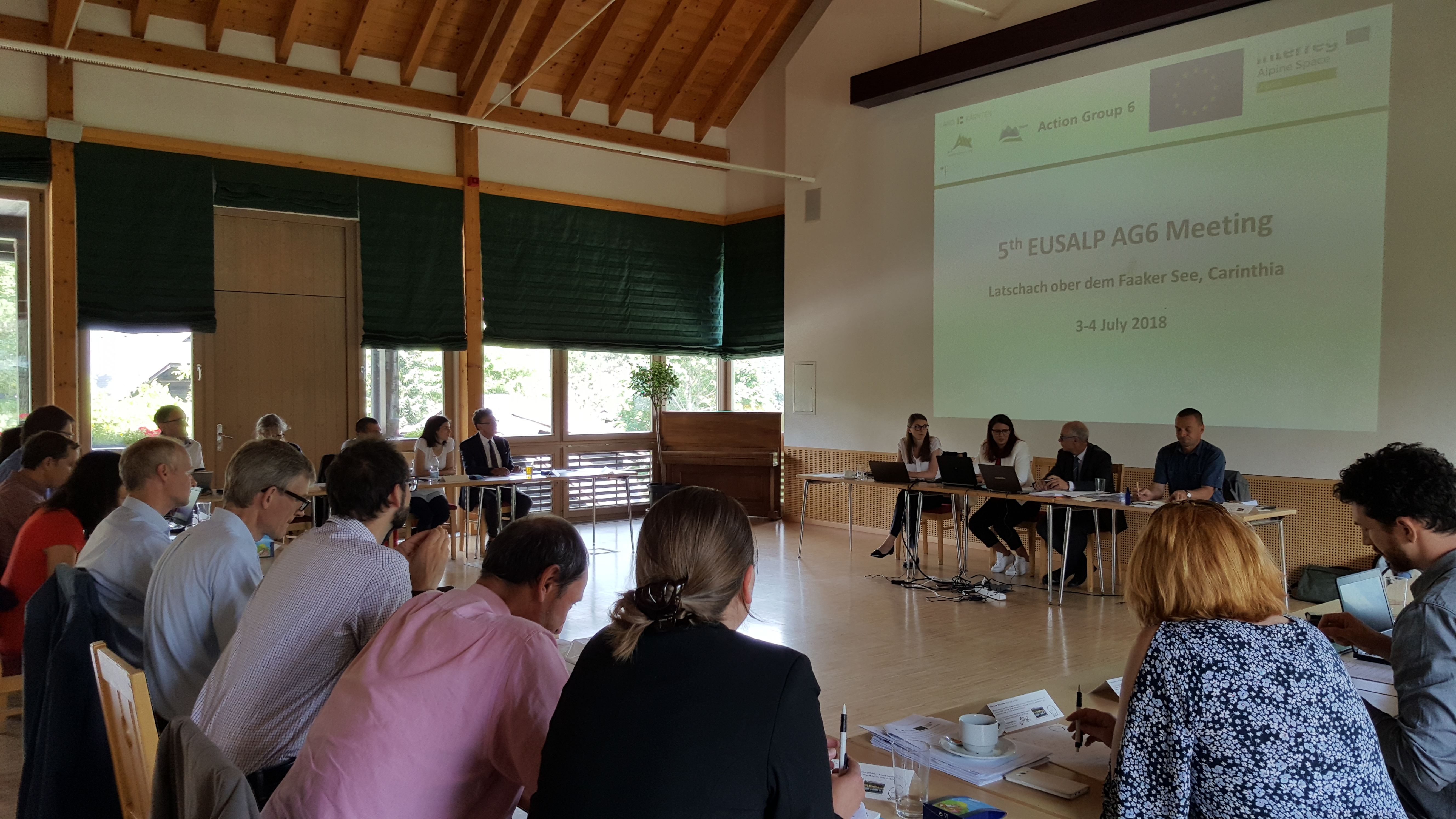 AG6 members at their 5th meeting on 3-4 July 2018 in Latschach at Lake Faak in Carinthia.