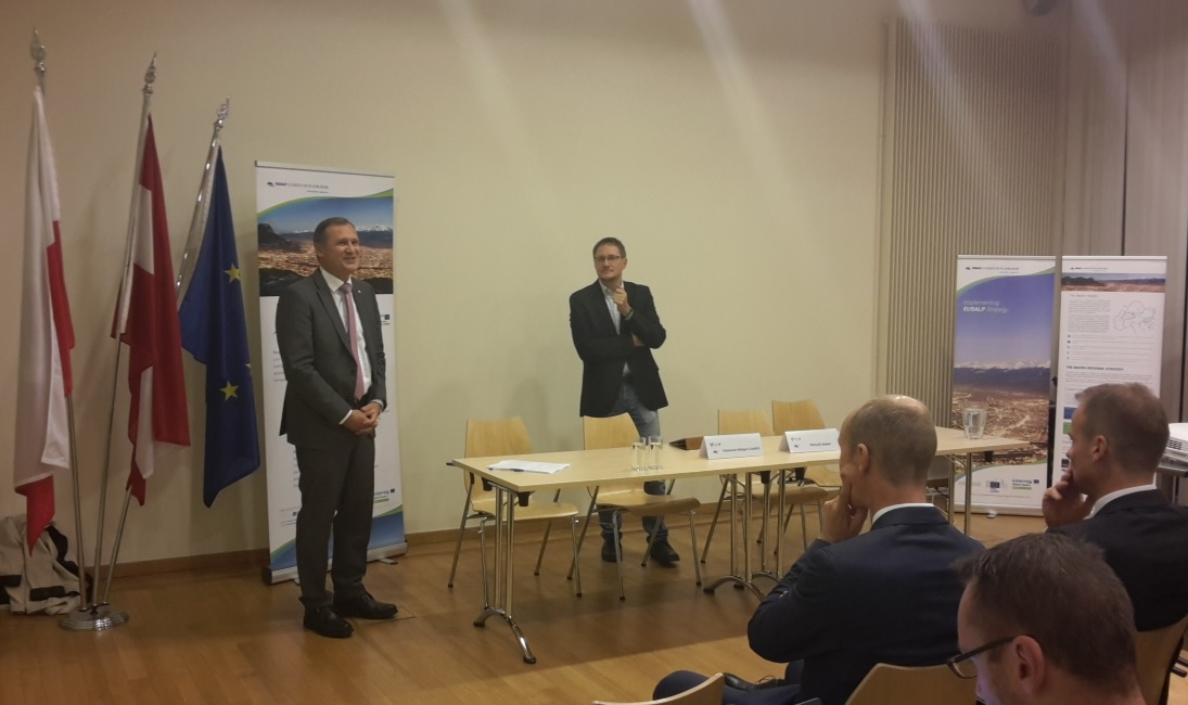 Welcome by Richard Seeber (Director Tyrol Office in Brussels) and Ekkehard Allinger-Csollich (Leader AG4)