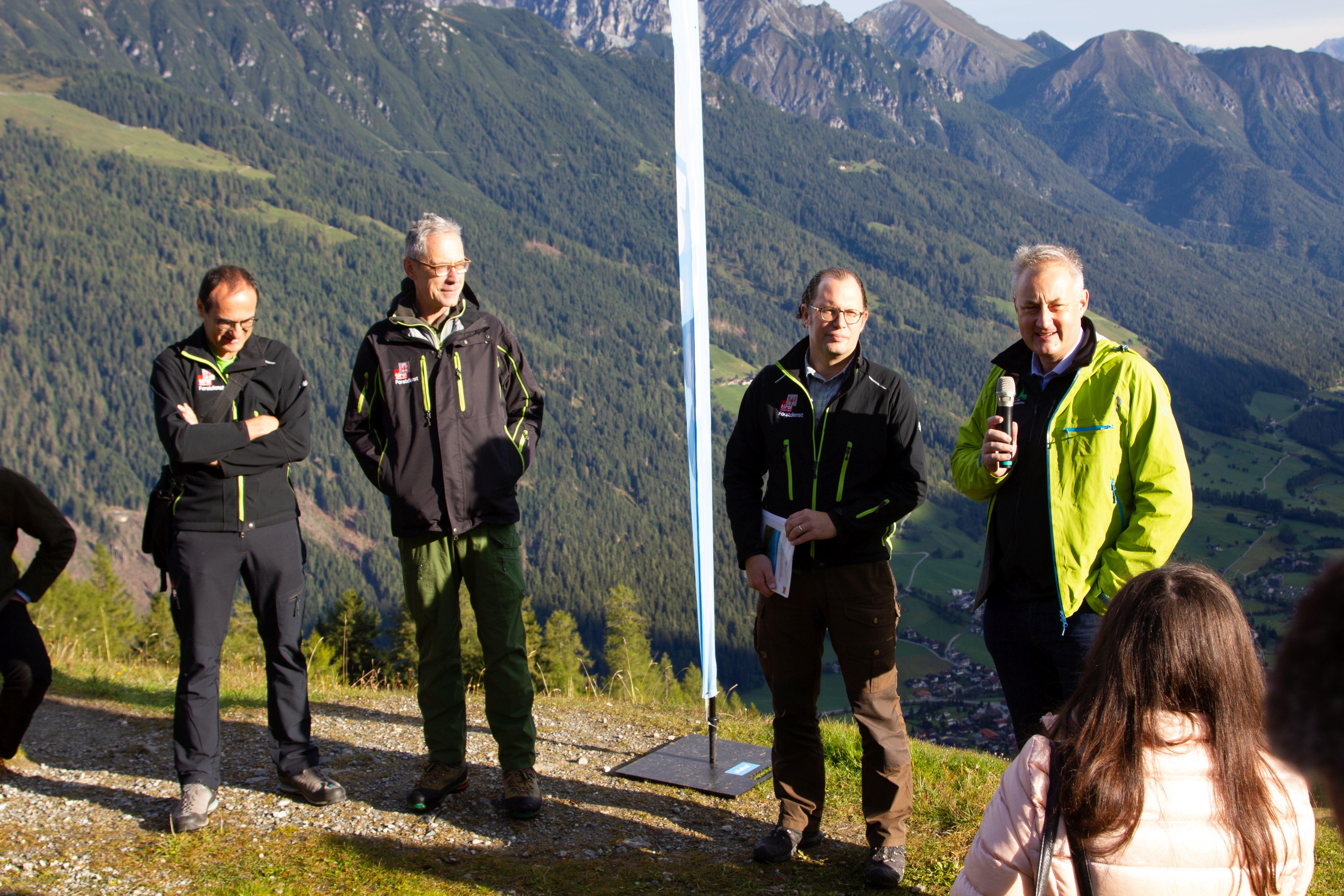 Presentations at Stubai Valley excursion